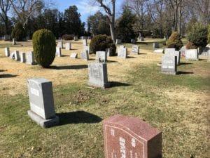 cemetery monument lettering nj